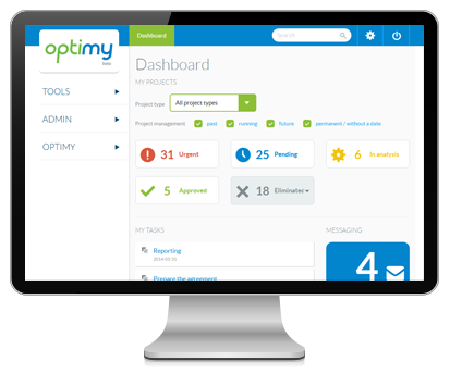 Optimy Grant & Community Investment Management Software Demo - Optimy software dashboard