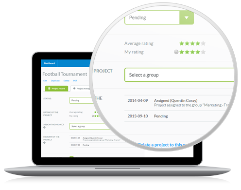 Optimy Grant & Community Investment Management Software Demo - Project management interface