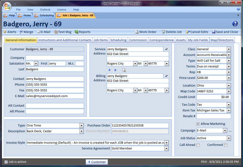Smart Service Demo - Smart Service Customer Info
