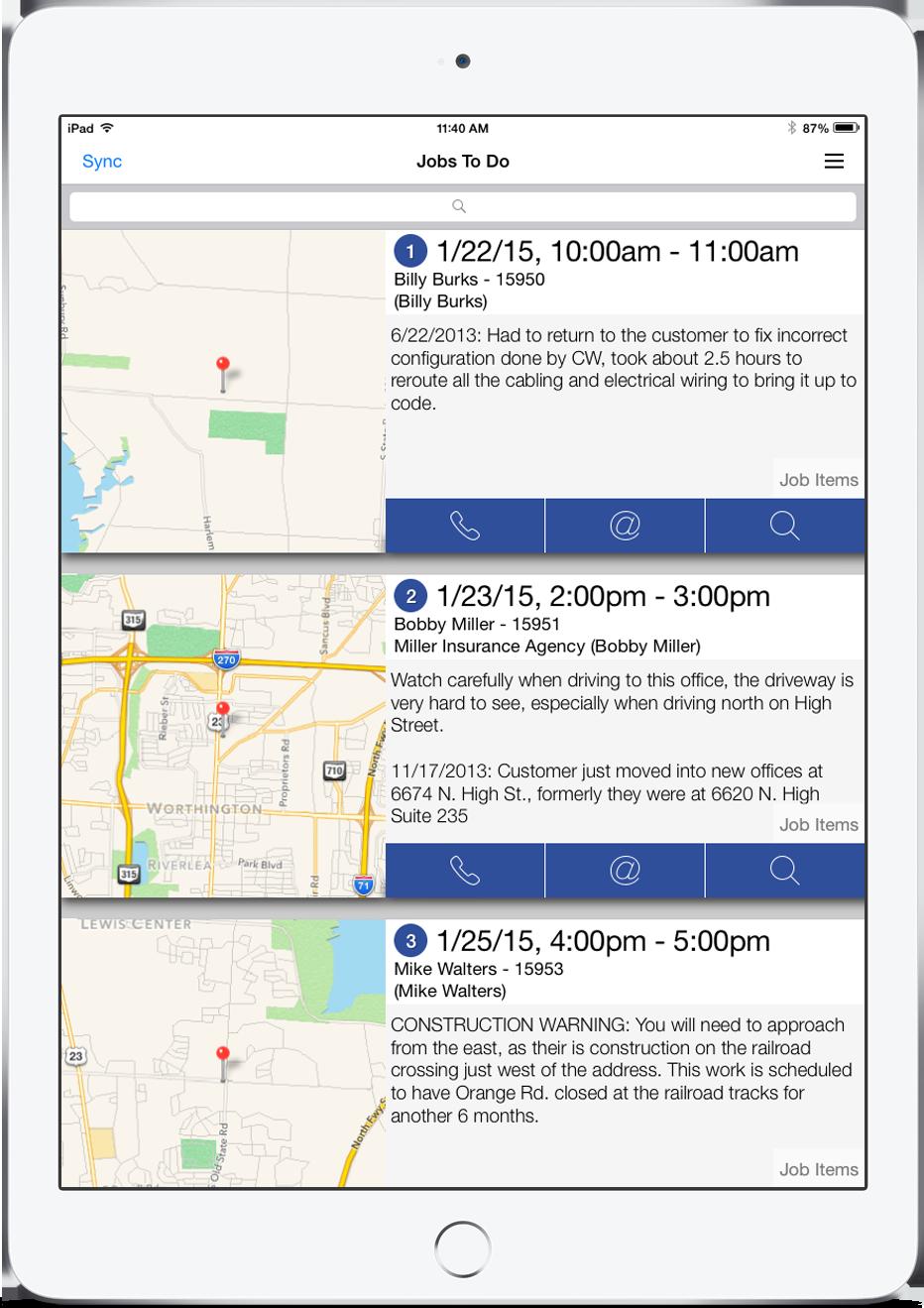 Smart Service Demo - iFleet Schedule