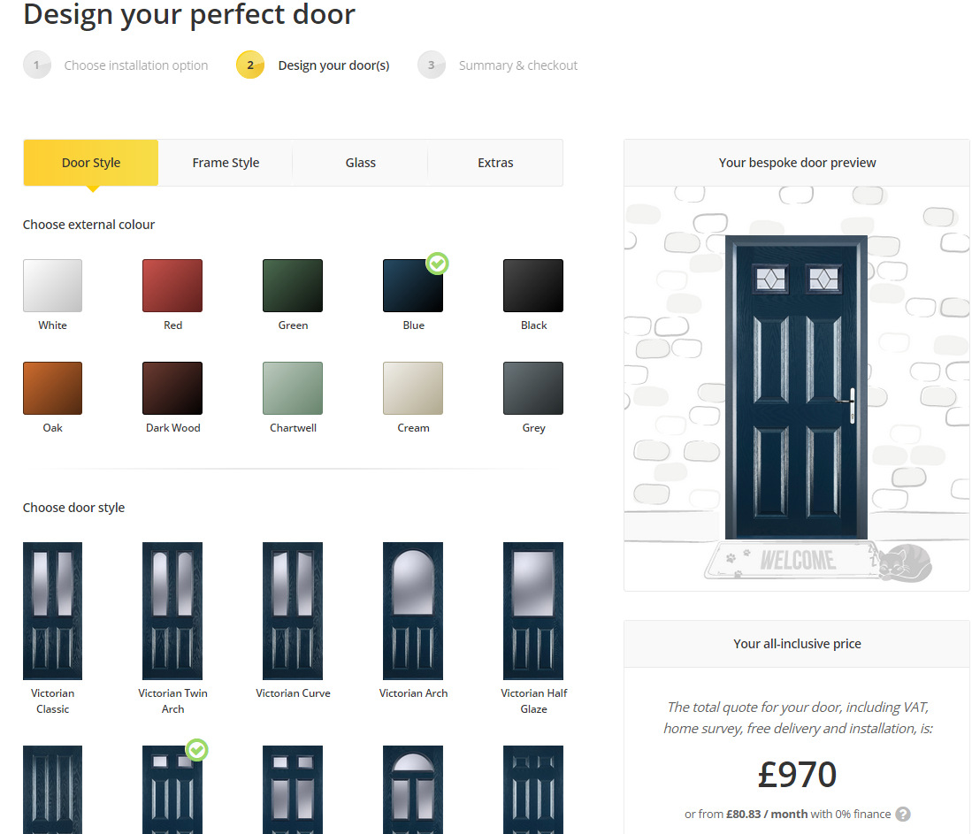 BlueprintCPQ Demo - Door Configurator