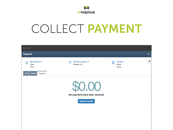 mHelpDesk Demo - Collect Payment