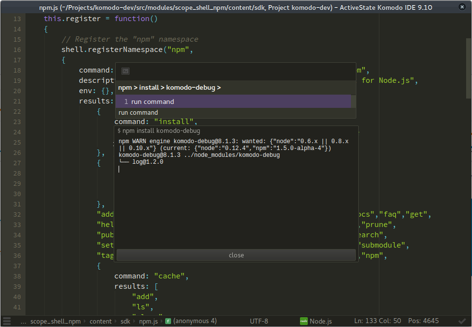 Komodo IDE Demo - Komodo IDE - Package Managers