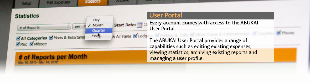 ABUKAI Expenses Demo - User Portal