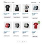 WooCommerce Demo - A product archive (grid).