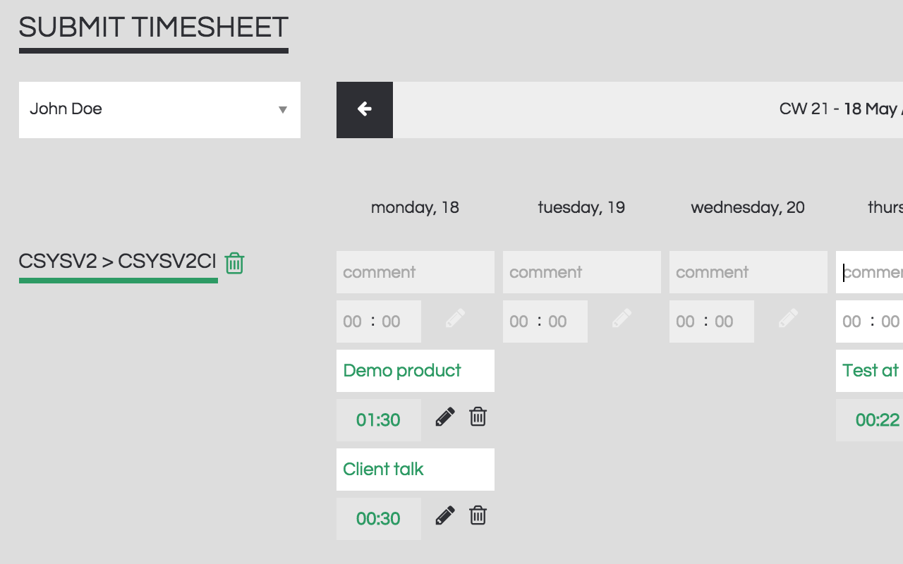 Cronforce Demo - Timesheets