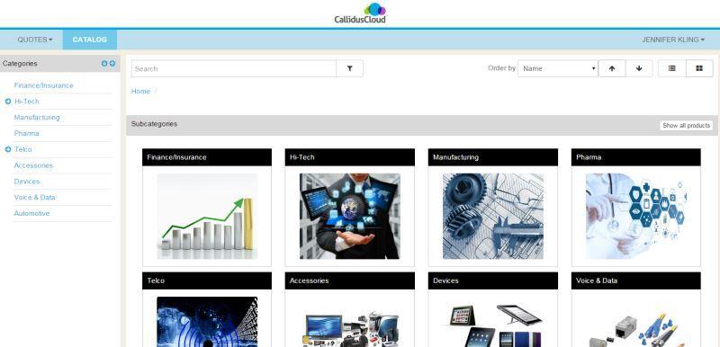 CallidusCloud CPQ Demo - CallidusCloud CPQ Catalog