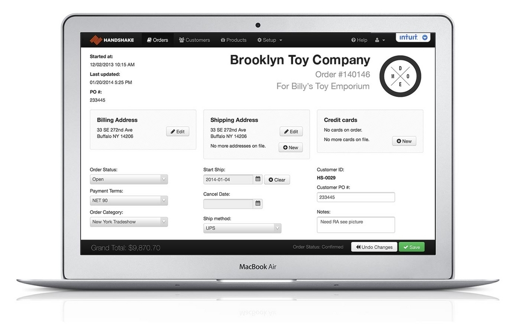 Handshake Demo - A single, powerful website to manage your orders