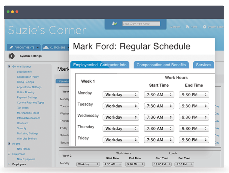 Booker Software Demo - Use Booker to see your regular schedule