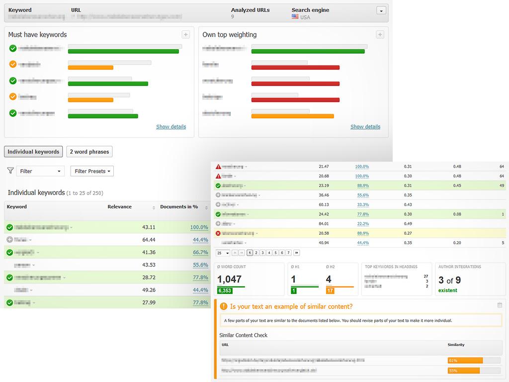 Searchmetrics Demo - Content Optimization