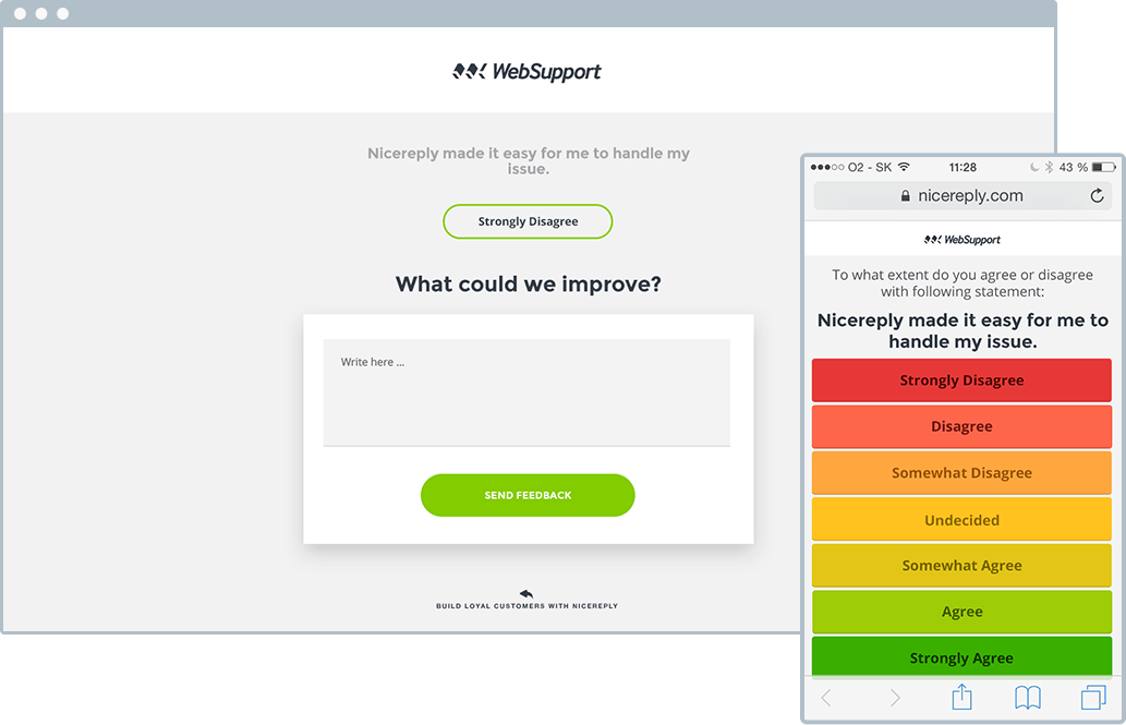 Nicereply Demo - Customer Effort Score