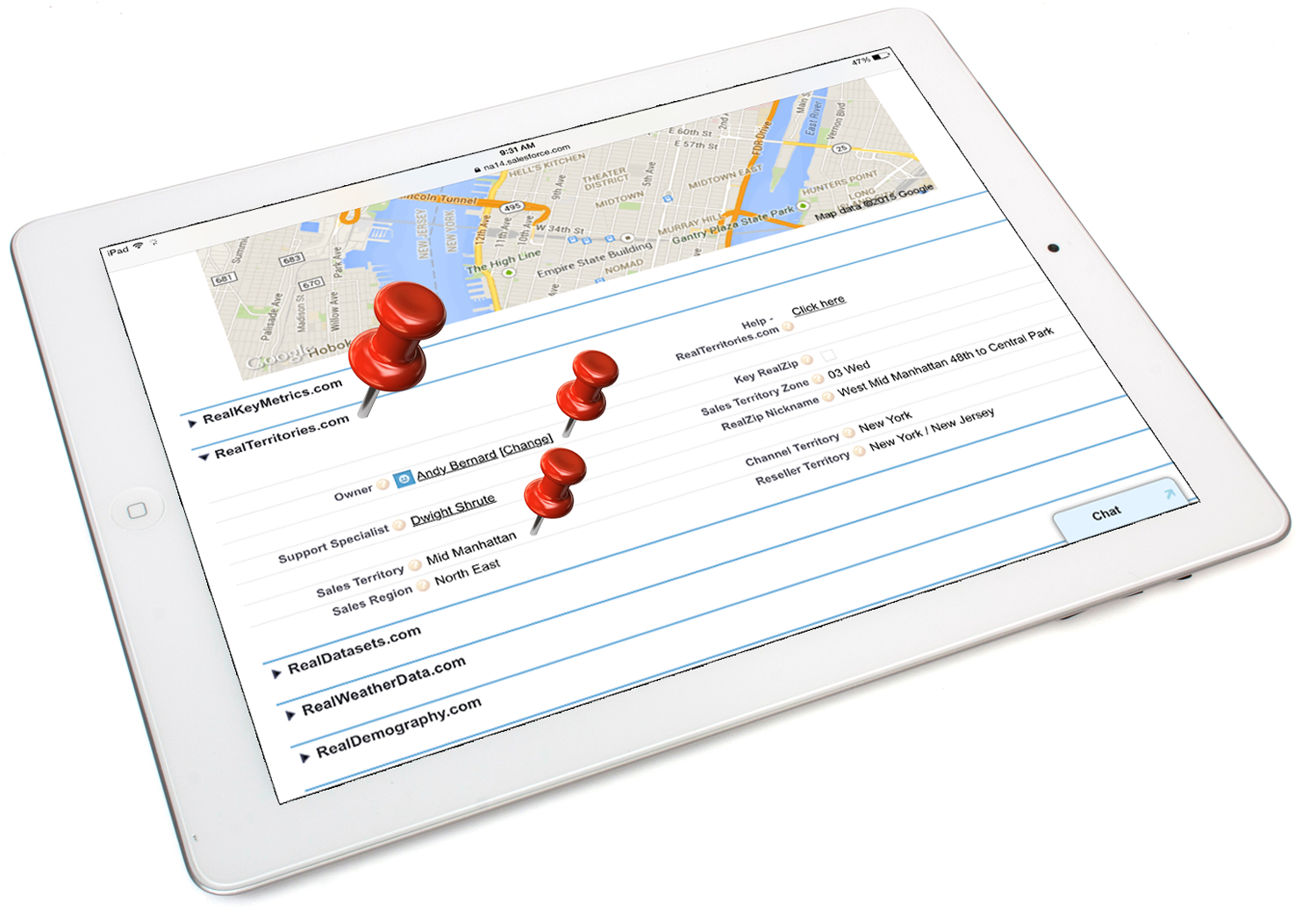 RealZips GeoData Platform for Salesforce.com Demo - Territory Management on a Zip code level