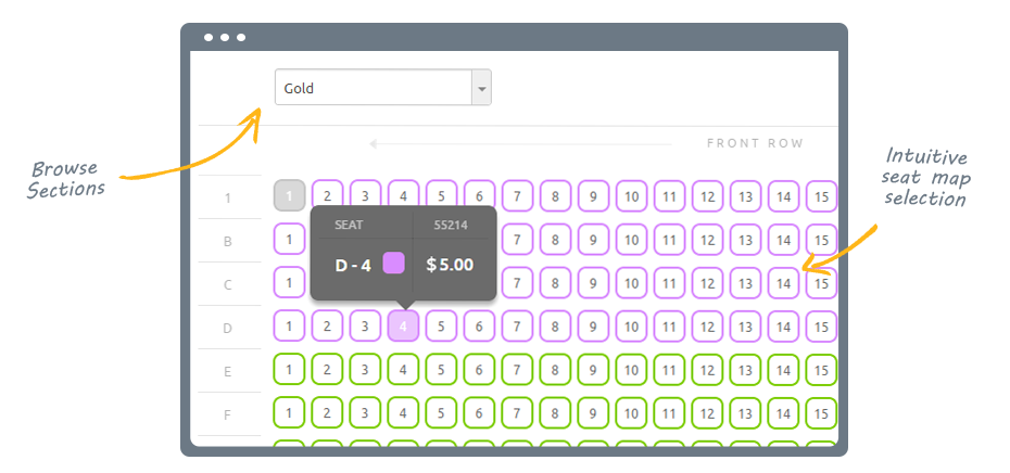 Yapsody Ticketing Demo - Reserved Seating