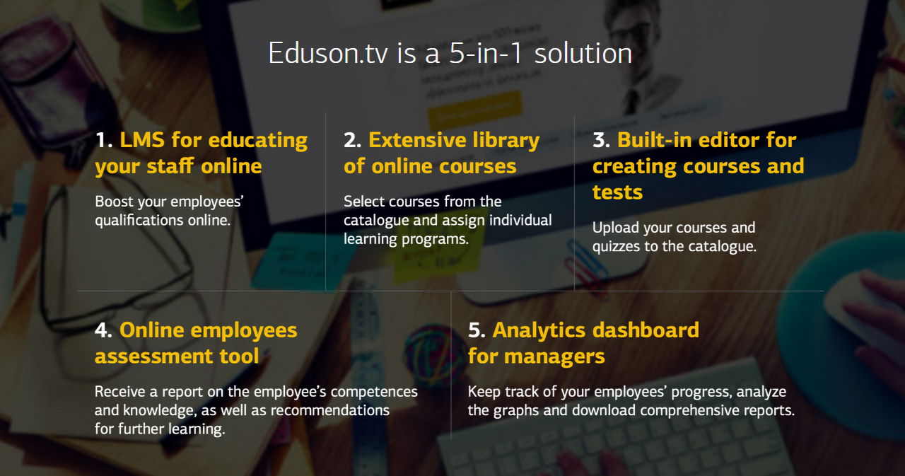 Eduson Demo - Eduson is a 5-in-1 solution