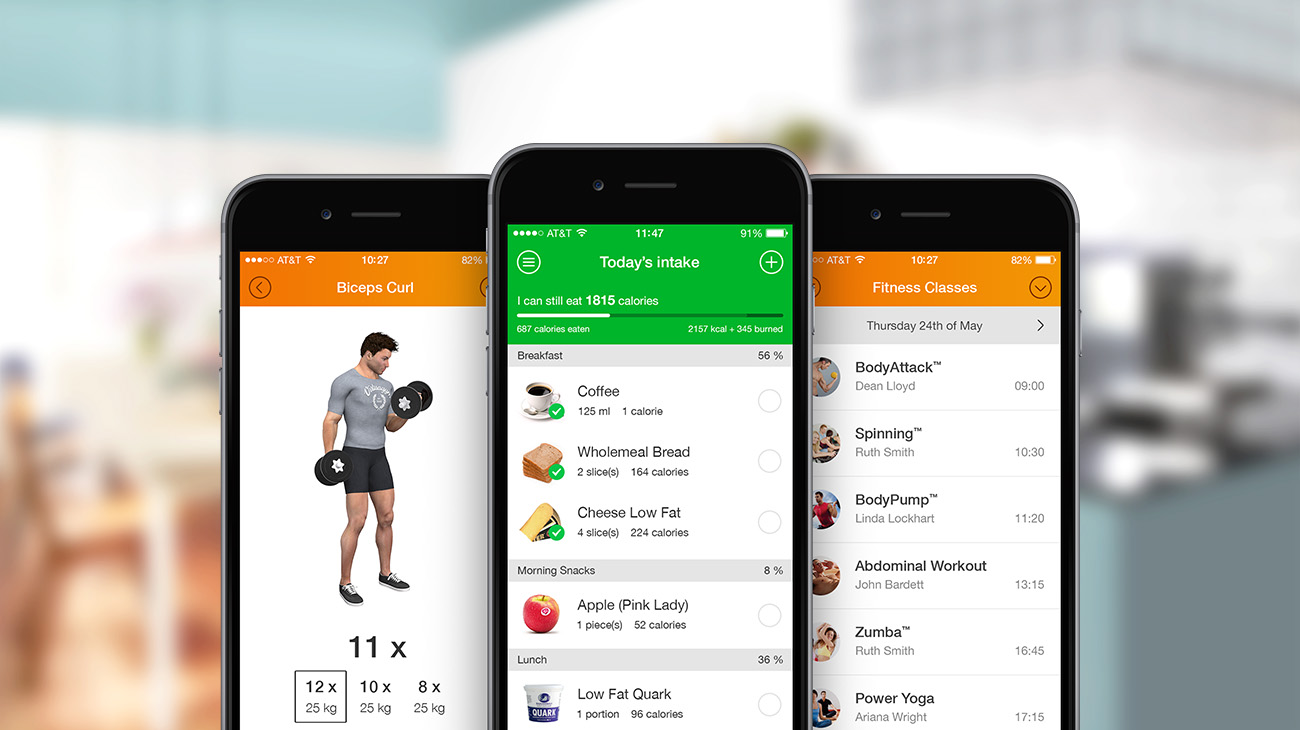 Virtuagym Demo - Mobile App Overview - Exercise, Nutrition & Schedule