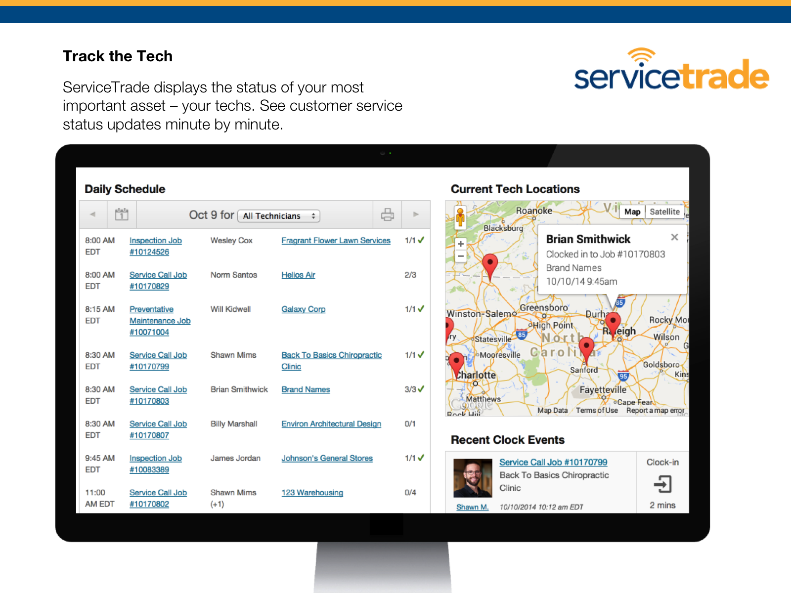 ServiceTrade Demo - Track the Tech