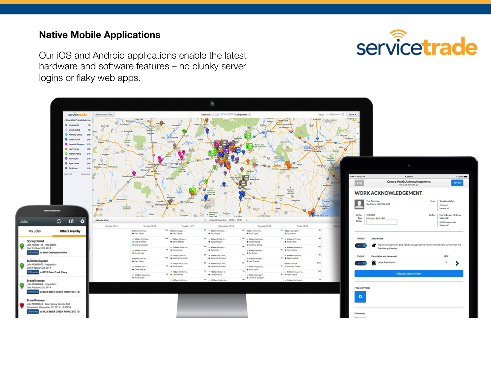 ServiceTrade Demo - Native Mobile Applications