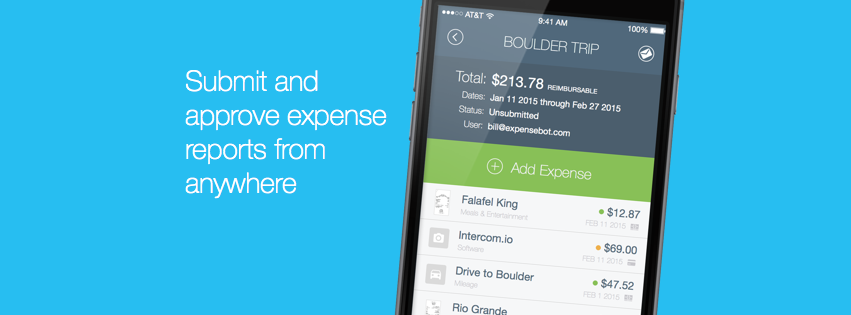 ExpenseBot Demo - Completely Mobile Expense Reports