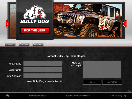 Yooba Kiosk Demo - Bully Dog Trade Show App
