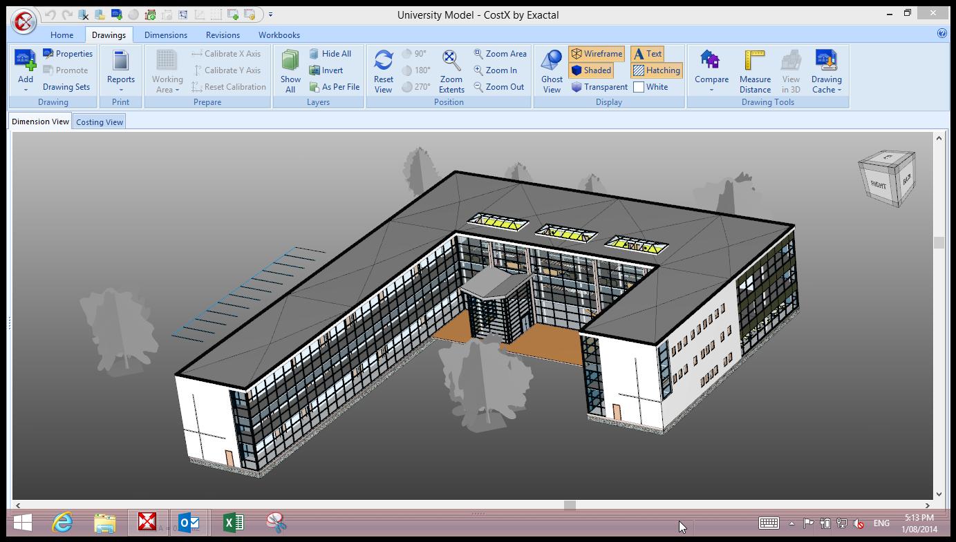 CostX Demo - 3D/BIM in CostX