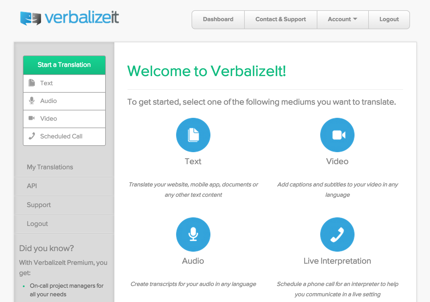 VerbalizeIt Demo - Translate Across All Mediums