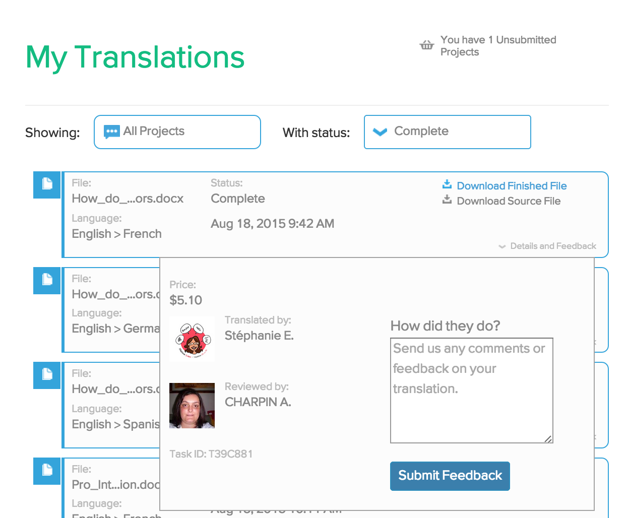 VerbalizeIt Demo - Full Visibility into Your Translation Team
