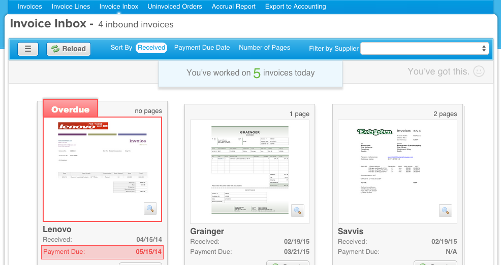 Coupa Invoicing Demo - Invoice to the Inbox