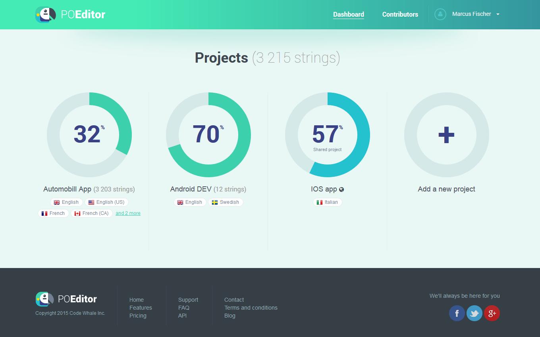 POEditor Demo - Account dashboard- POEditor localization platform