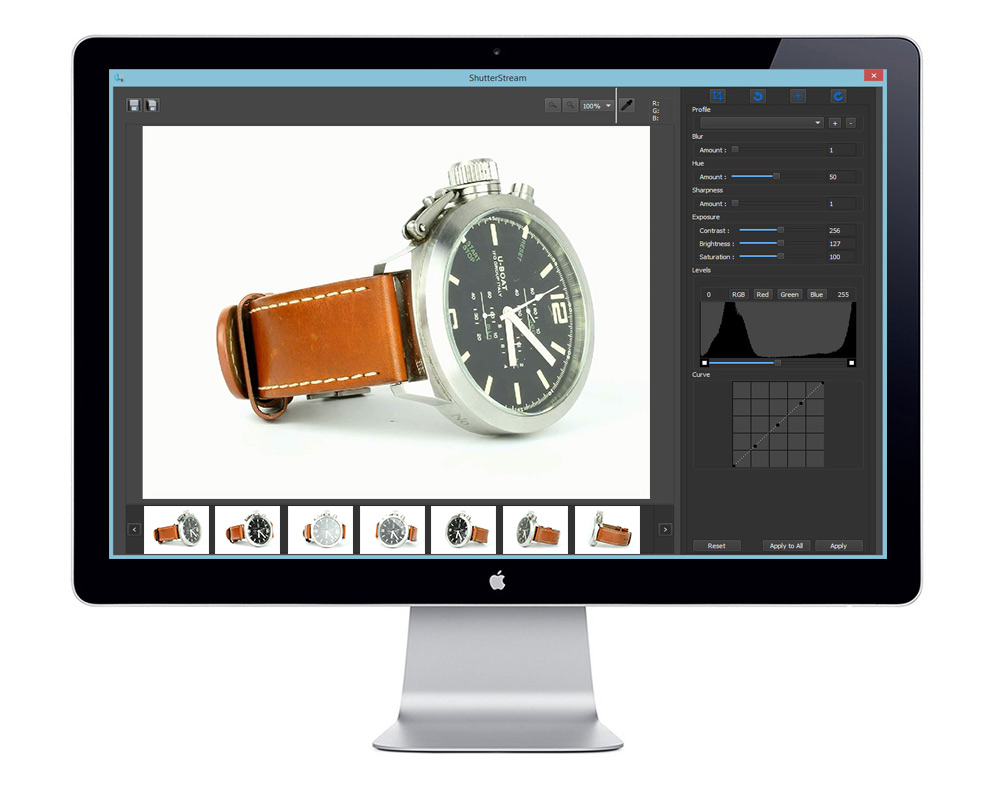 Shutter Stream Demo - Shutter Stream Product Photography Software Image Editing UI