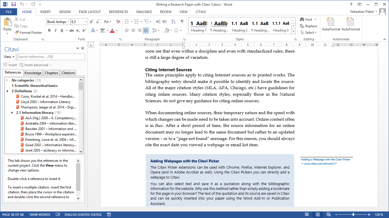 Citavi Demo - Citavi Add-In for Microsoft Word