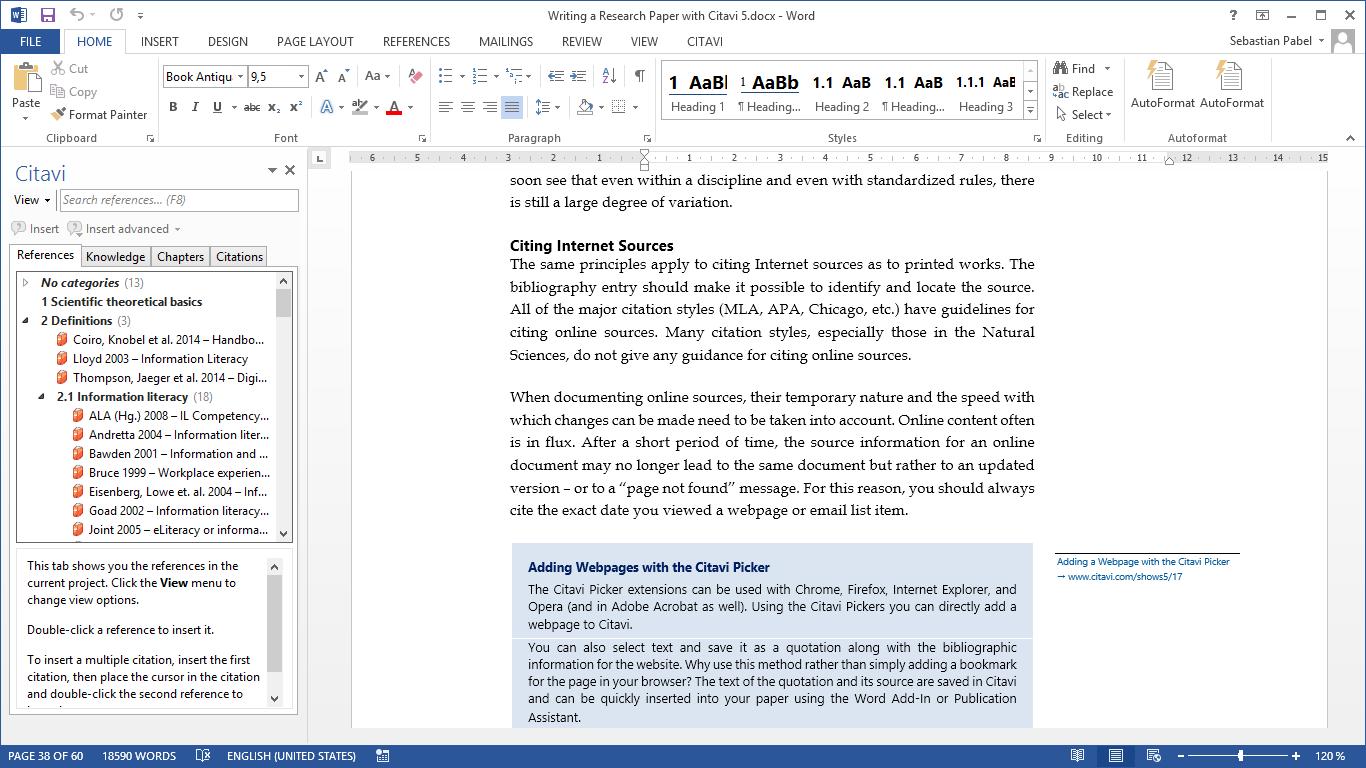 Citavi Demo - Citavi Add-In for Microsoft Word