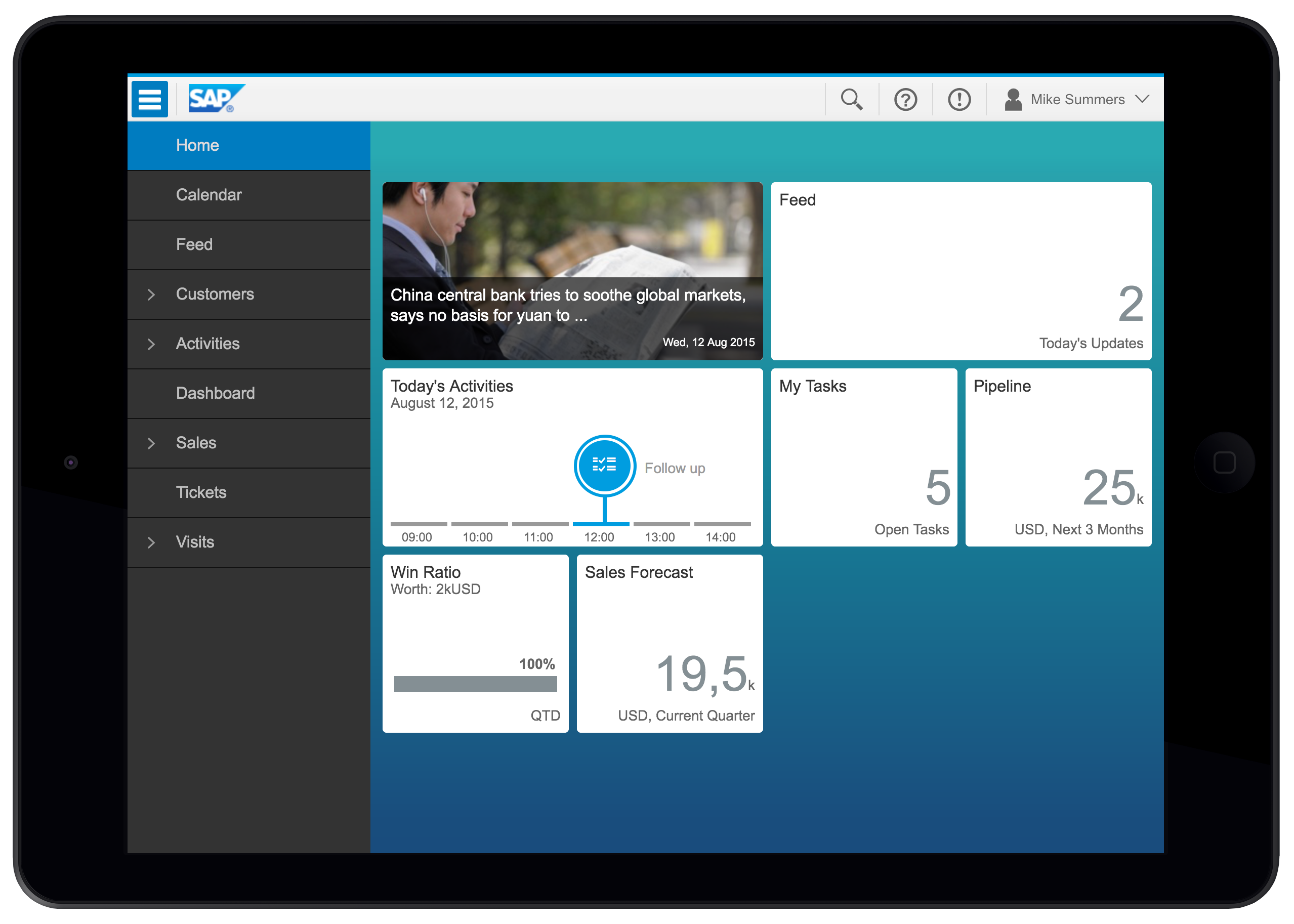 SAP Digital CRM Demo - For your iPad