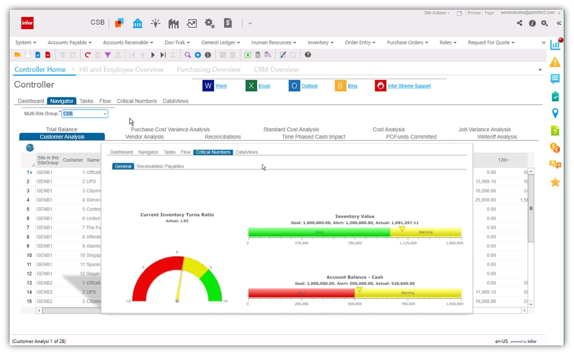 Infor CloudSuite Business Demo - CloudSuite Business Screen Shot 2
