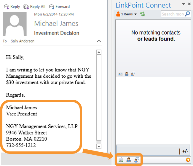 LinkPoint Connect Demo - Drag & Drop to Create CRM Contacts and Leads without Manual Data Entry