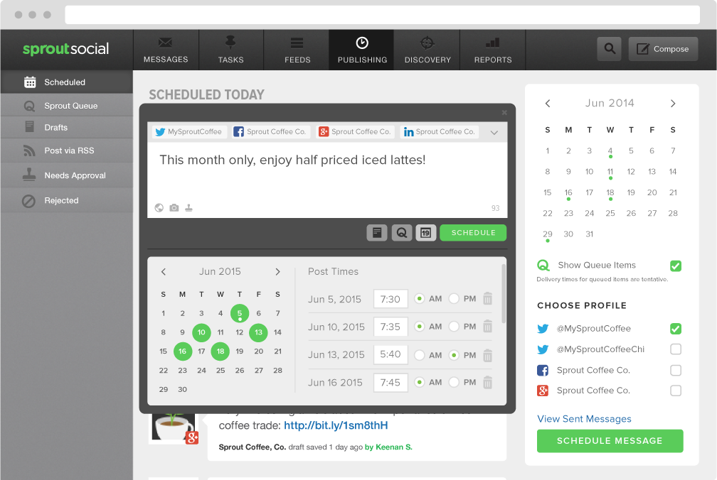 Sprout Social Demo - Publish