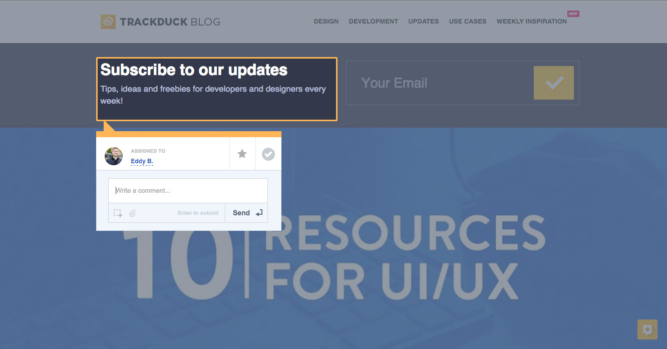 TrackDuck Demo - TrackDuck - quick issue reporting