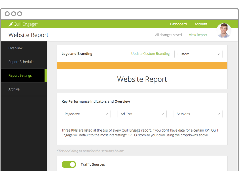 Narrative Science Quill Engage Demo - Customize Reports