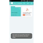 DocuShare Mobile Apps Screenshot