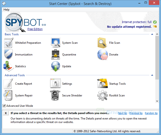 spybot search and destroy antivirus free download