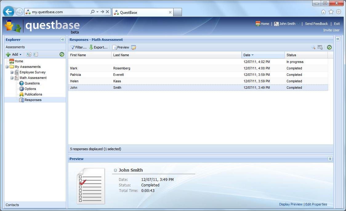 QuestBase Demo - QuestBase_screenshot4