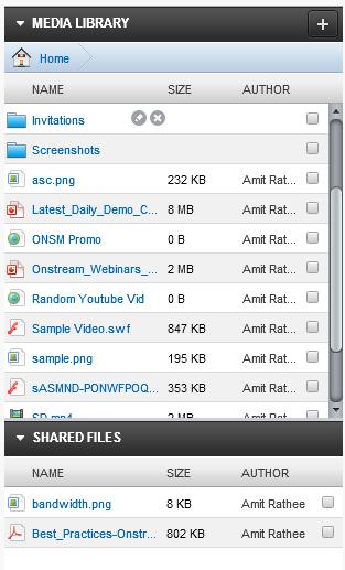 Onstream Webinars Demo - Media Library