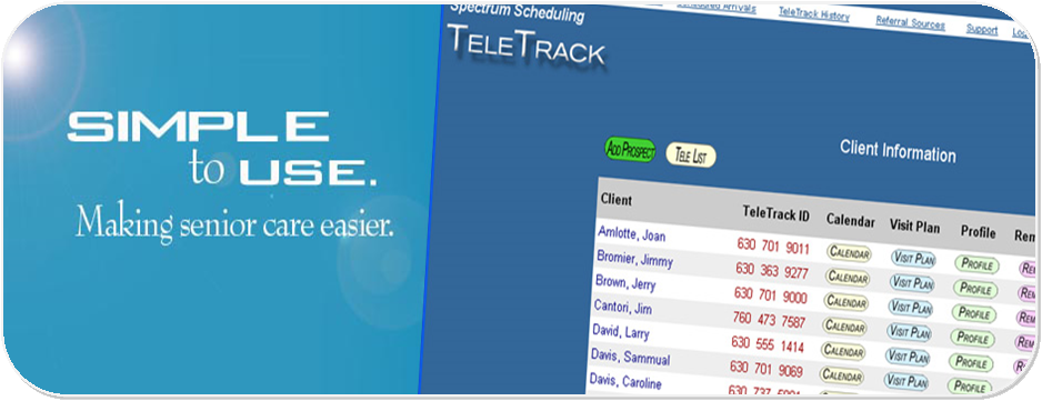 Spectrum TeleTrack Demo - Designed to be easy with less clicks to get what you need done.
