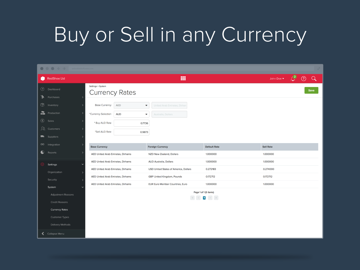 Unleashed Demo - Buy and Sell in any Currency