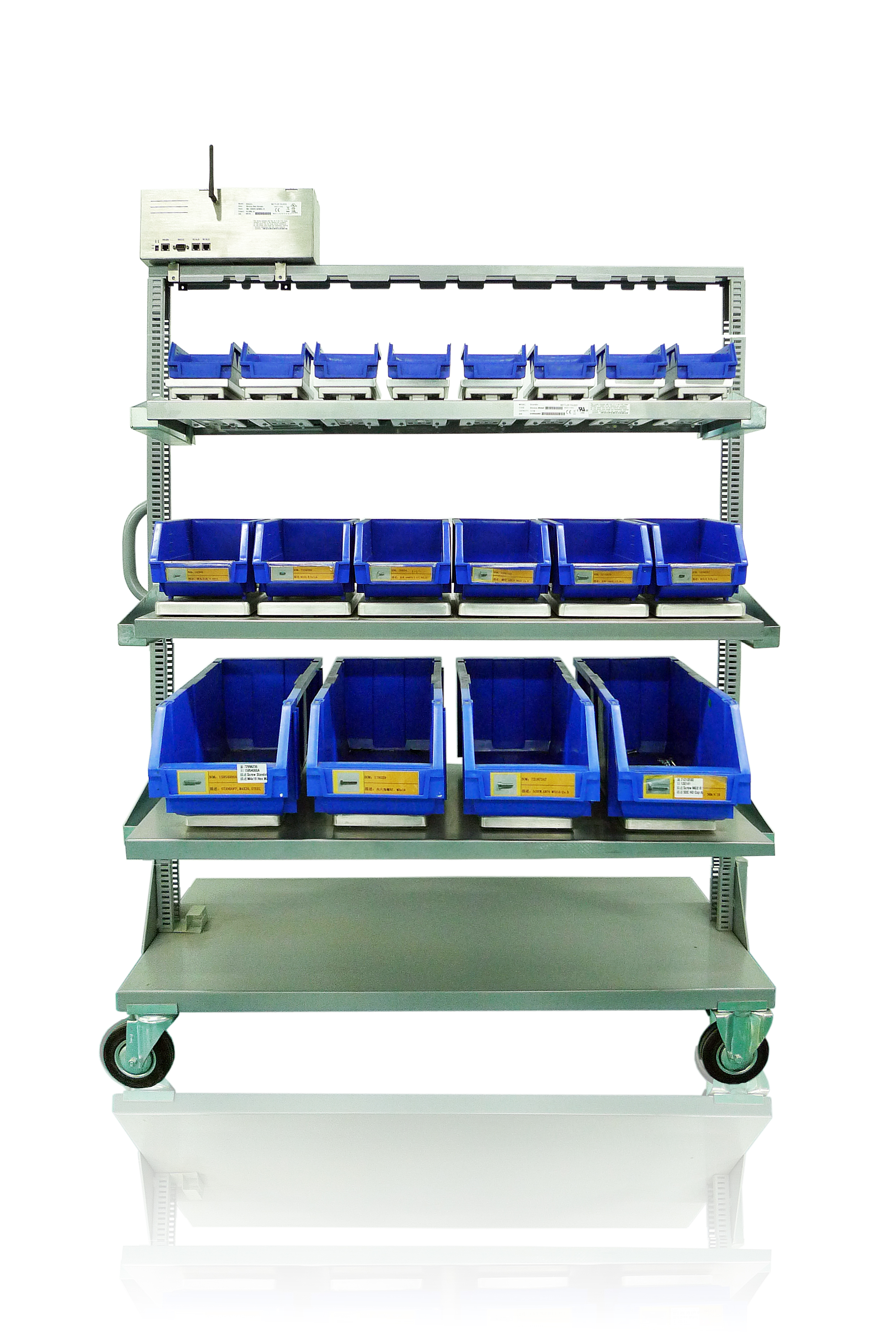 eTurns Demo - eTurns eVMI Sensor-managed Inventory Solution -- mobile cart option