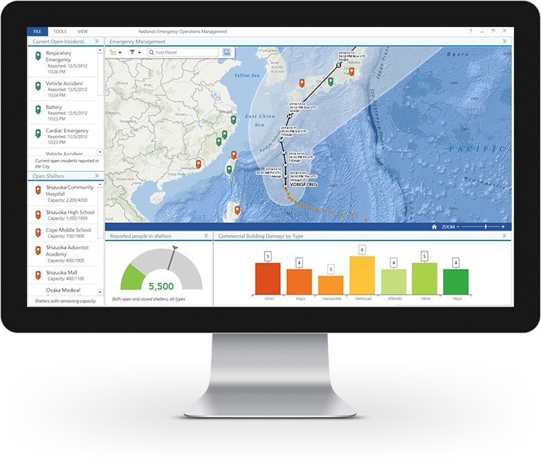 Esri ArcGIS Demo - Create dashboards with maps