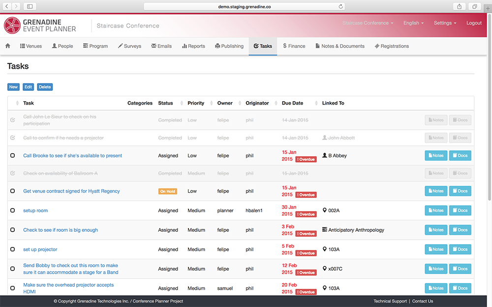 Grenadine Event Planner Demo - Keep-track-of-To-Dos-for-planning-your-Event.png