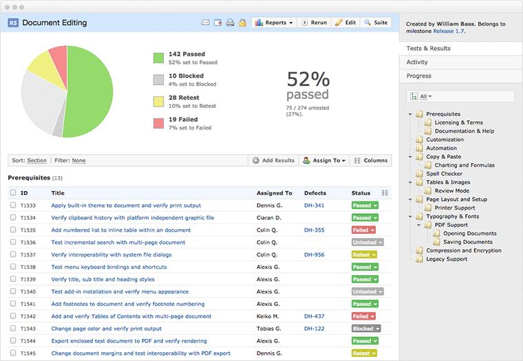TestRail Demo - Modern test management software tool