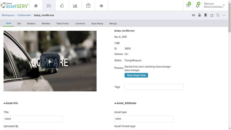 assetSERV Demo - Metadata view