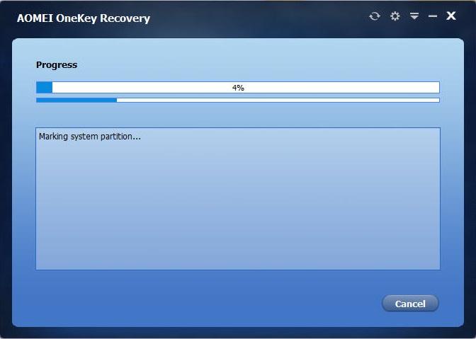 AOMEI OneKey Recovery Demo - AOMEI OneKey Recovery