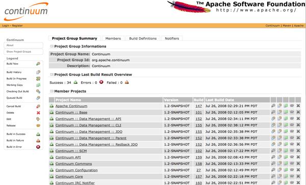 Apache Continuum Demo - Apache Continuum